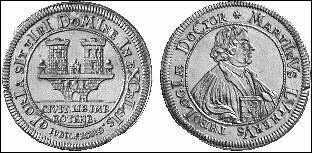 Gedenkmedallie aus Rothenburg aus dem Jahr 1717
