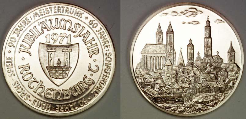 Muenze Hans Sachs 1971