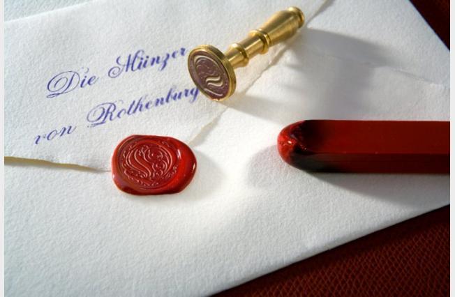 Fotocollage - Briefumschlag Die Münzer von Rohtenburg